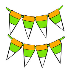 St patricks day flags icon icon cartoon vector