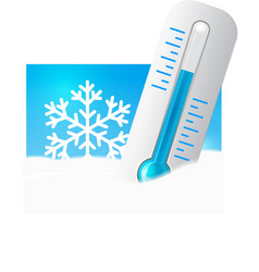 thermometer in the snow vector image