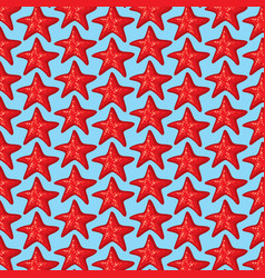 background pattern with sea stars vector image vector image