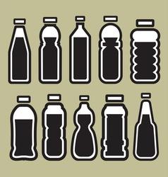 bottles1 vector image