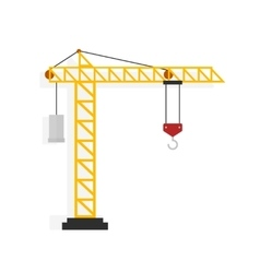 Crane isolated on white vector image vector image