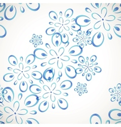 Diagonal seamless flower pattern vector image