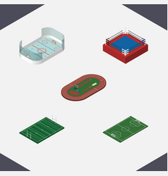 isometric training set of ice games fighting vector image