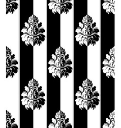 Seamless monochrome damask vintage pattern Striped vector image vector image