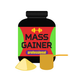 sports nutrition mass gainer professional powder vector image