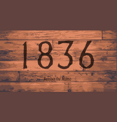 1836 the alamo date brand vector