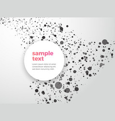 abstract dotted background with sample text vector image