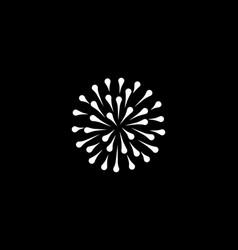 abstract white drops circle logo icon design vector image