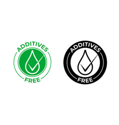 Additives free icon free natural food vector