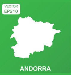 andorra map icon business concept andorra vector image