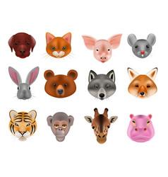 Animal mask animalistic masking face of vector