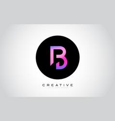 b letter monogram logo design modern b icon with vector image