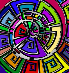 Background with abstract image of color abstract vector