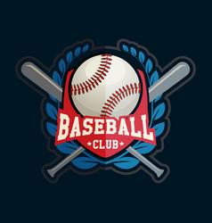 baseball club badge sport logo template vector image