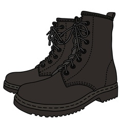 Black leather boots vector image