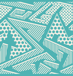 Blue cloth seamless pattern vector