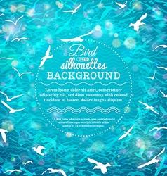 Blue summer birds background vector image