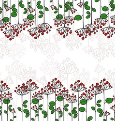 Border with abstract floral branches vector