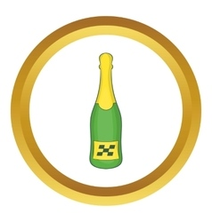 Bottle of champagne icon vector