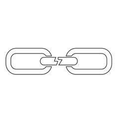 Broken chain icon design vector