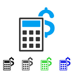 Business calculator flat icon vector