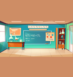 chemistry cabinet classroom laboratory interior vector image