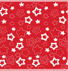 christmas and new year seamless pattern endless vector image