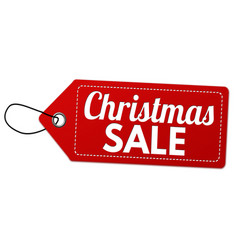 christmas sale label or price tag vector image