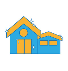 clean house with roof and door design vector image