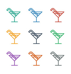 Cocktail icon white background vector
