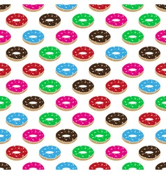 color sweet food donuts seamless pattern eps10 vector image