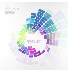 colorful circular mosaic design background vector image
