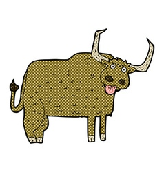 Comic cartoon hairy cow vector