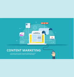 content management smm and blogging concept in vector image