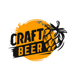 Craft beer poster vector
