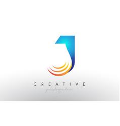 Creative corporate j letter logo icon design with vector