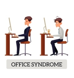 Demonstration of correct and incorrect sitting on vector