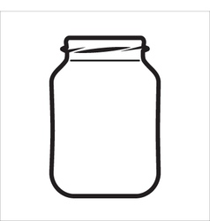 Empty Jar vector