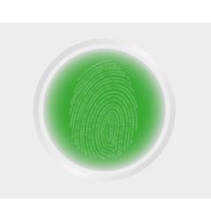 Fingerprint scanning vector image