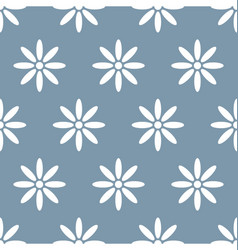 flower and daisy seamless background vector image