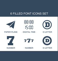 Font icons vector