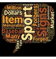 Forged Sports Memorabilia text background vector image