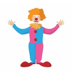Funny clown cartoon vector image