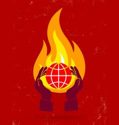 Globe fire vector