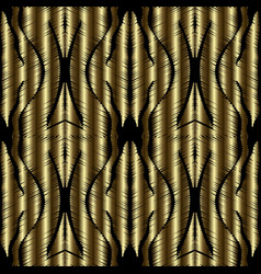 Gold tapestry 3d seamless pattern vector