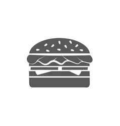hamburger icon on white background vector image