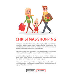 happy family mother father small daughter shopping vector image