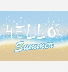 Hello summer sea vector