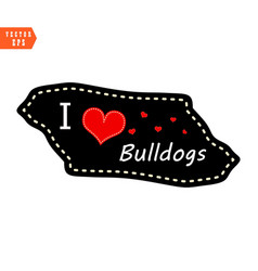 i love bulldogs heart valentine wallpaper vector image