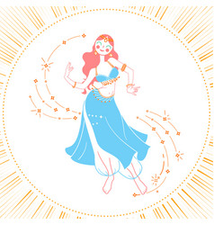 Icon dancing woman vector